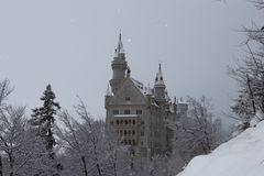 Neuschwanstein-Schloss in der Winterzeit Fussen deutschland Lizenzfreie Stockfotos