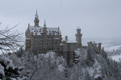 Neuschwanstein-Schloss in der Winterzeit Fussen deutschland Lizenzfreie Stockfotografie