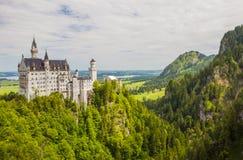 Neuschwanstein-Schloss in Fussen, Bayern, Deutschland lizenzfreie stockbilder