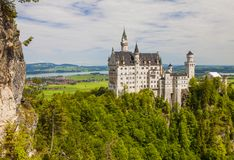 Neuschwanstein-Schloss in Fussen, Bayern, Deutschland lizenzfreies stockfoto