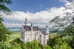 Neuschwanstein-Schloss gelegen nahe Fussen im Südwestenbayern, Deutschland stockbild