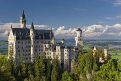 Neuschwanstein Schloss im Bayern, Deutschland Lizenzfreies Stockbild