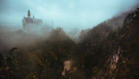 Neuschwanstein Shrouded in Fog Royalty Free Stock Image