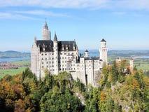 Neuschwanstein slott - FÃ-¼ ssen, Tyskland Arkivfoto
