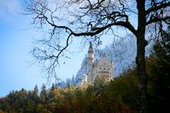 Neuschwanstein slott i Baviera Arkivbilder