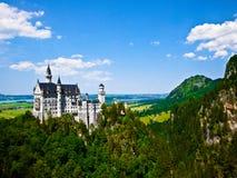 Neuschwanstein slott i Bayern, Tyskland Royaltyfri Bild