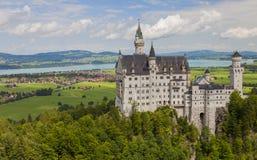 Neuschwanstein slott i Fussen, Bayern, Tyskland Arkivfoto