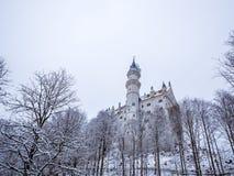 Neuschwanstein slott i vinterlandskap germany Royaltyfria Bilder