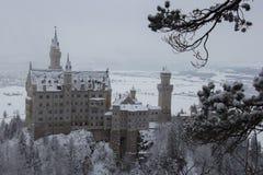 Neuschwanstein slott i vintertid Fussen germany Arkivfoto