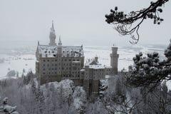 Neuschwanstein slott i vintertid Fussen germany Arkivfoton