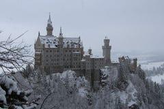 Neuschwanstein slott i vintertid Fussen germany Royaltyfri Fotografi