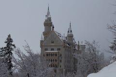 Neuschwanstein slott i vintertid Fussen germany Fotografering för Bildbyråer