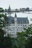 Neuschwanstein slottbro arkivfoton