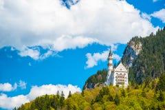 Neuschwanstein - Tyskland Arkivbild