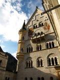 Neuschwanstein y cielo Fotografía de archivo
