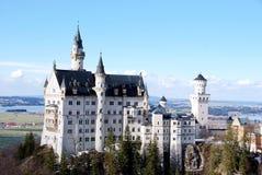 neuschwansteinschloss royaltyfri fotografi