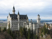 Neuschweinstein Castle - Germany. Neuschweinstein Castle View from Wooden Bridge - Germany Royalty Free Stock Image