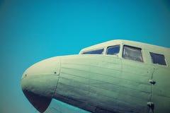 Neusdeel een fuselage van het oude vliegtuig Royalty-vrije Stock Foto's