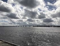 Neuse rzeki most Obraz Royalty Free