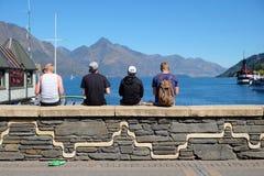 Neuseeland-Abenteuertourismus stockfoto