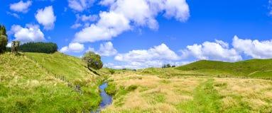 Neuseeland-Ackerlandpanorama Lizenzfreies Stockbild
