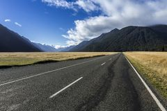 Neuseeland-Berge Lizenzfreies Stockfoto
