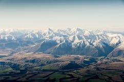 Neuseeland-Berge im Winter lizenzfreie stockfotografie