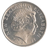 50-Neuseeland-Cent-Münze Stockfoto