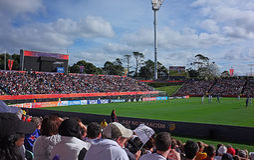 Neuseeland gegen Weltcup U-20 Ukraine FIFA 2015 Lizenzfreies Stockfoto
