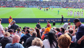 Neuseeland gegen Weltcup U-20 Ukraine FIFA 2015 Stockbild