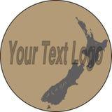 Neuseeland-Karte Logo Design lizenzfreie abbildung