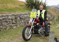 Neuseeland-Mann liebt seinen Job Lizenzfreies Stockfoto