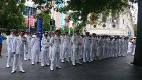 Neuseeland-Marine-Offiziere Lizenzfreie Stockfotos