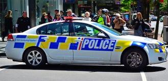Neuseeland-Polizeistreifenwagen lizenzfreies stockfoto