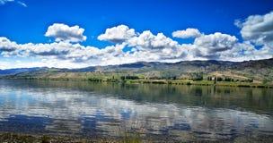 Neuseeland, See Hawea-Ansicht lizenzfreie stockfotos