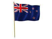 Neuseeland-Seidemarkierungsfahne lizenzfreie abbildung