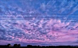 Neuseeland-Sonnenuntergang stockbild