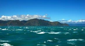 Neuseeland von der Koch-Straße Lizenzfreie Stockfotografie