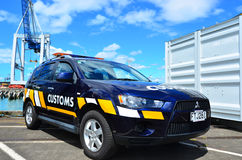 Neuseeland-Zollamtfahrzeug stockbild