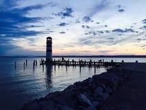Neusiedl voient en Autriche avec le phare Images stock