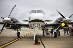 Neusmening van Beechcraft-Koning Air royalty-vrije stock fotografie