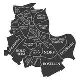 Neuss city map Germany DE labelled black illustration. Neuss city map Germany DE labelled black Royalty Free Stock Image