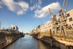 Neuss Germania del porto del Reno immagini stock libere da diritti