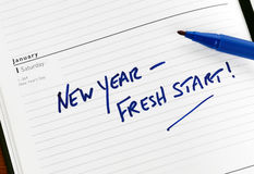 Neustart des neuen Jahres Lizenzfreies Stockbild