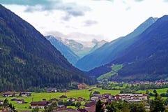 Neustift nella valle di Stubai nel Tirolo Fotografia Stock