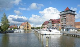 Neustrelitz Mecklenburg sjöområde, Tyskland arkivbild