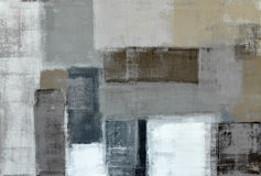 Neutral Abstract Art Painting Royalty Free Stock Images
