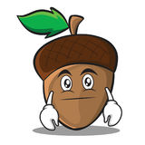 Neutral acorn cartoon character style Royalty Free Stock Photo