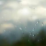 Rain drops. Neutral background - rain drops on glass Stock Images