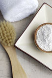 Neutral Bath. Bath ingredients in neutral colors Royalty Free Stock Photography